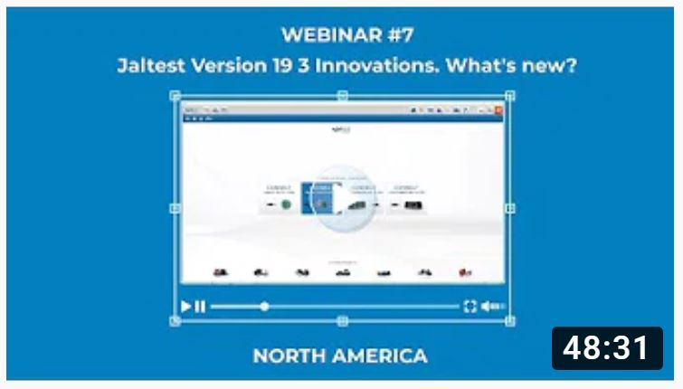 Jaltest Webinar #7: Jaltest Version 19 3 Innovations. What's new?
